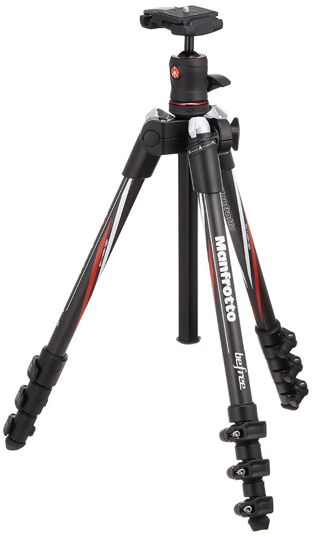 Manfrotto MKBFRA4-BH BeFree Compact Carbon Fiber Travel Tripod